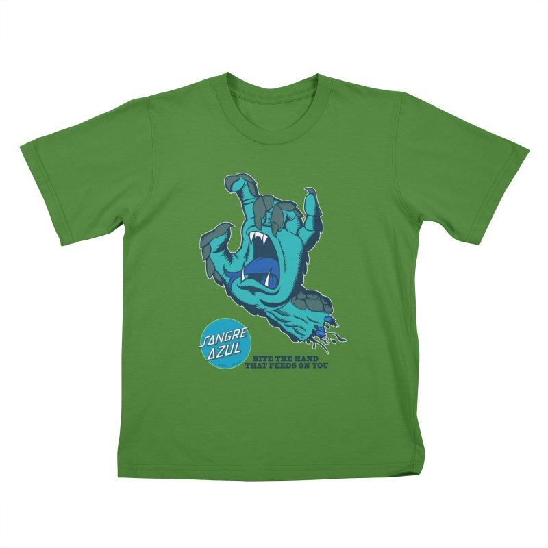 Sangre Azul Kids T-shirt by Dedos tees