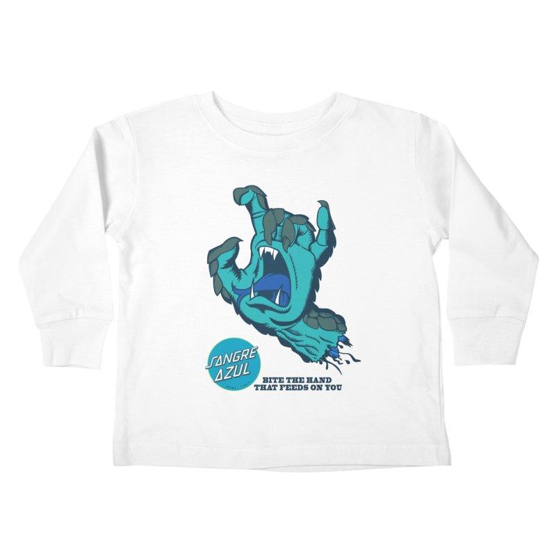Sangre Azul Kids Toddler Longsleeve T-Shirt by Dedos tees