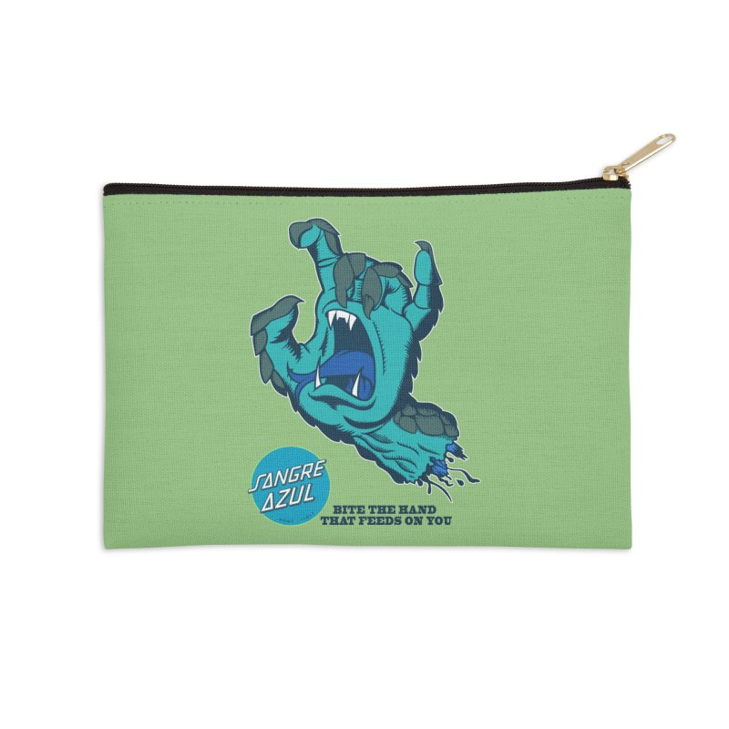 Sangre Azul Accessories Zip Pouch by Dedos tees