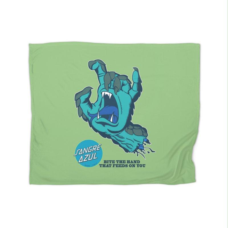 Sangre Azul Home Blanket by Dedos tees