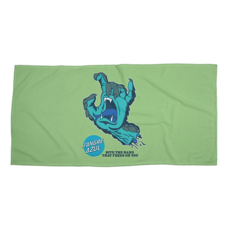 Sangre Azul Accessories Beach Towel by Dedos tees