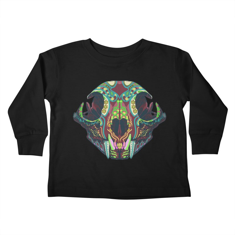 Sugar Lynx Kids Toddler Longsleeve T-Shirt by Dedos tees