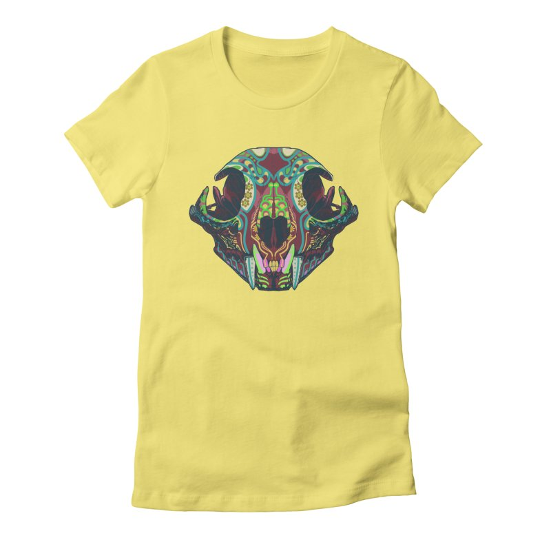 Sugar Lynx Women's Fitted T-Shirt by Dedos tees