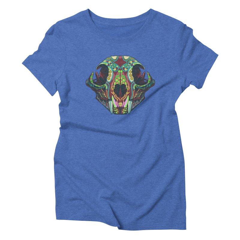 Sugar Lynx Women's Triblend T-shirt by Dedos tees