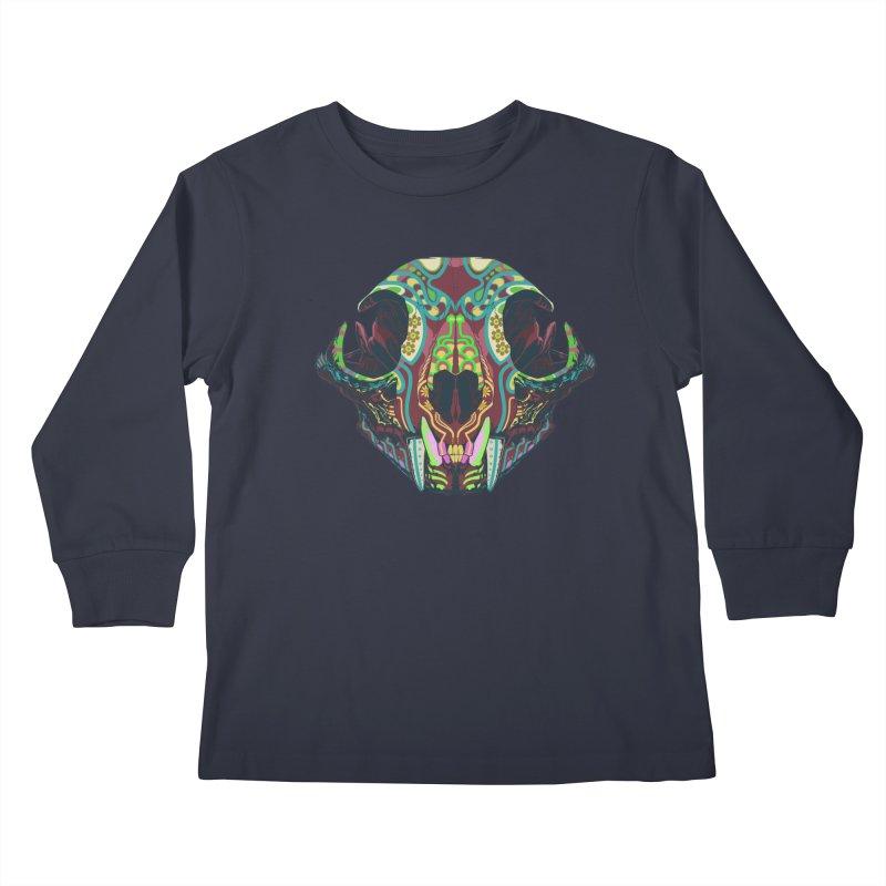 Sugar Lynx Kids Longsleeve T-Shirt by Dedos tees