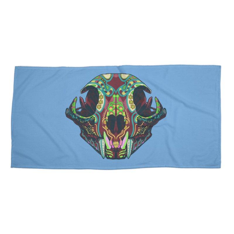 Sugar Lynx Accessories Beach Towel by Dedos tees
