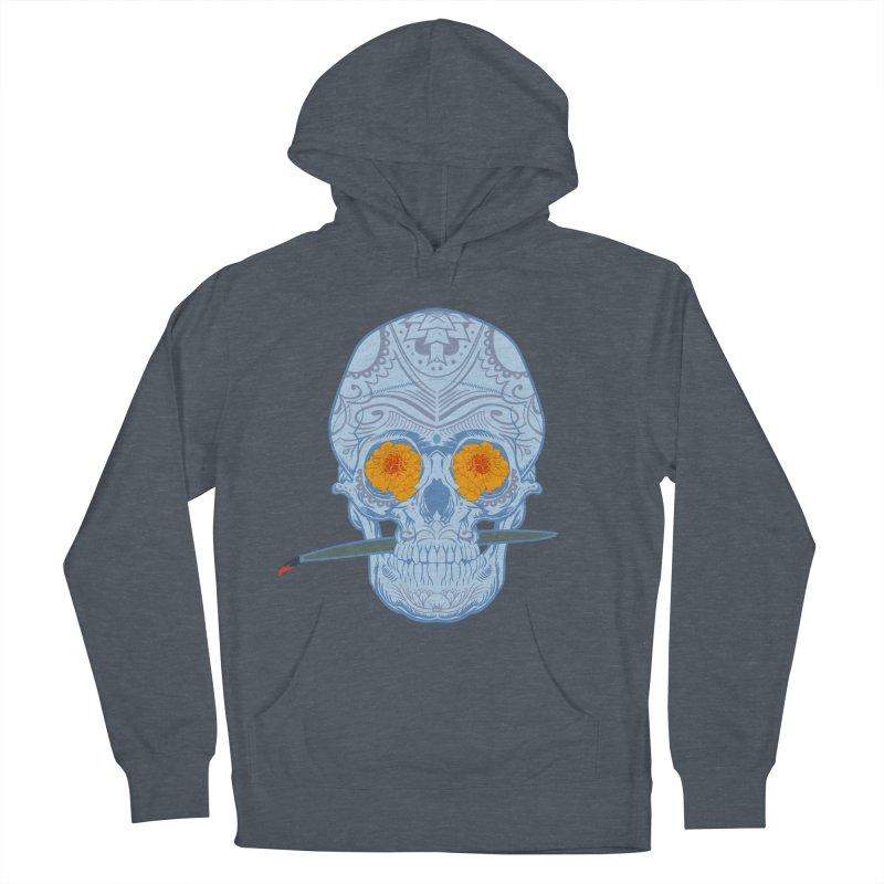 Sugar Skull white Women's Pullover Hoody by Dedos tees