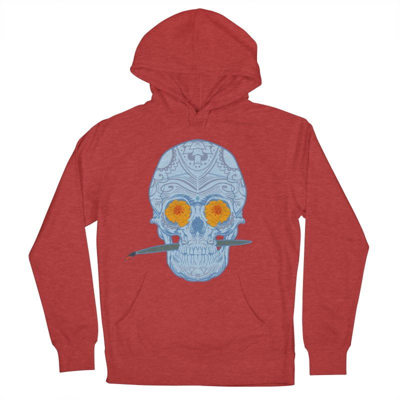 Sugar Skull white Women's Pullover Hoody by Dedos tees