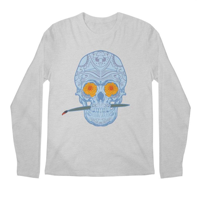 Sugar Skull white Men's Longsleeve T-Shirt by Dedos tees