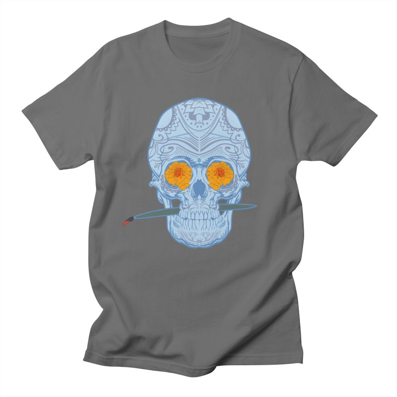 Sugar Skull white Men's T-Shirt by Dedos tees
