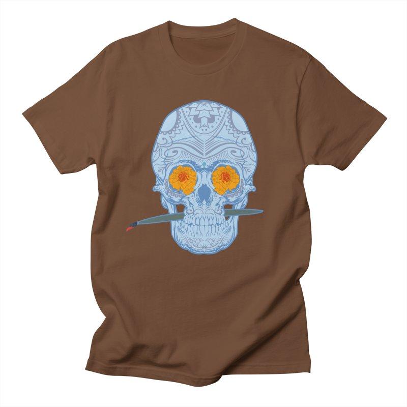 Sugar Skull white Women's Unisex T-Shirt by Dedos tees