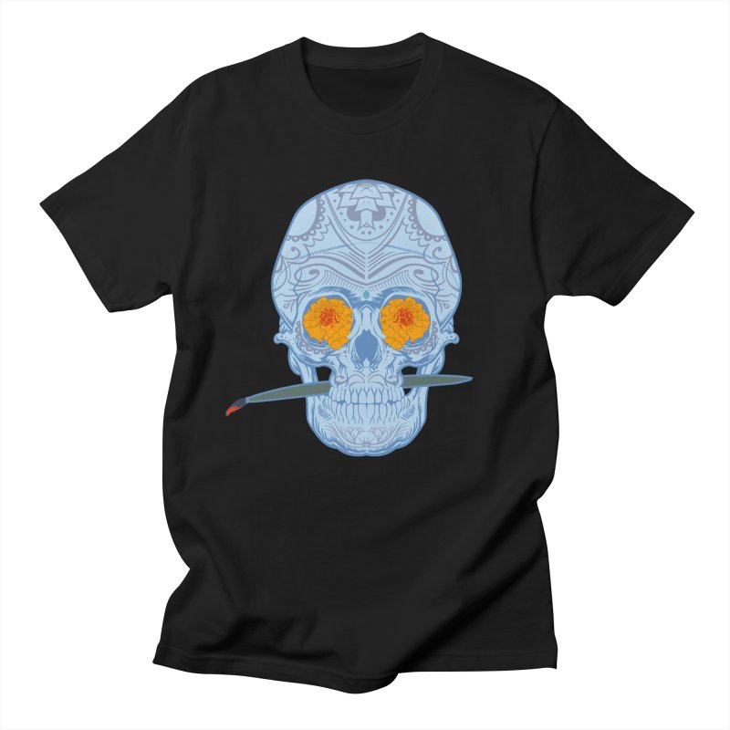 Sugar Skull white Women's Unisex T-Shirt by Dedos tees
