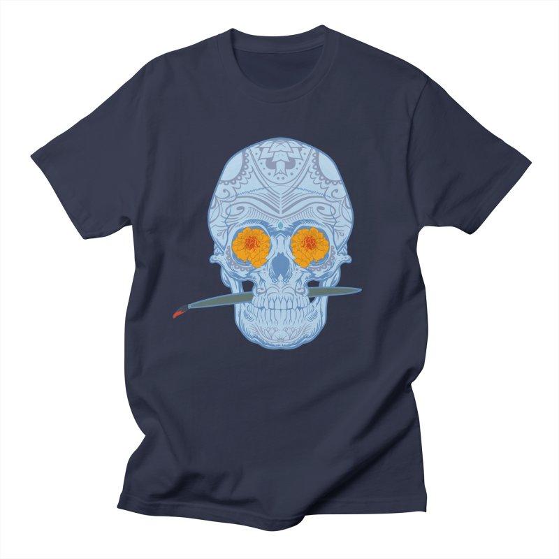 Sugar Skull white Men's T-shirt by Dedos tees