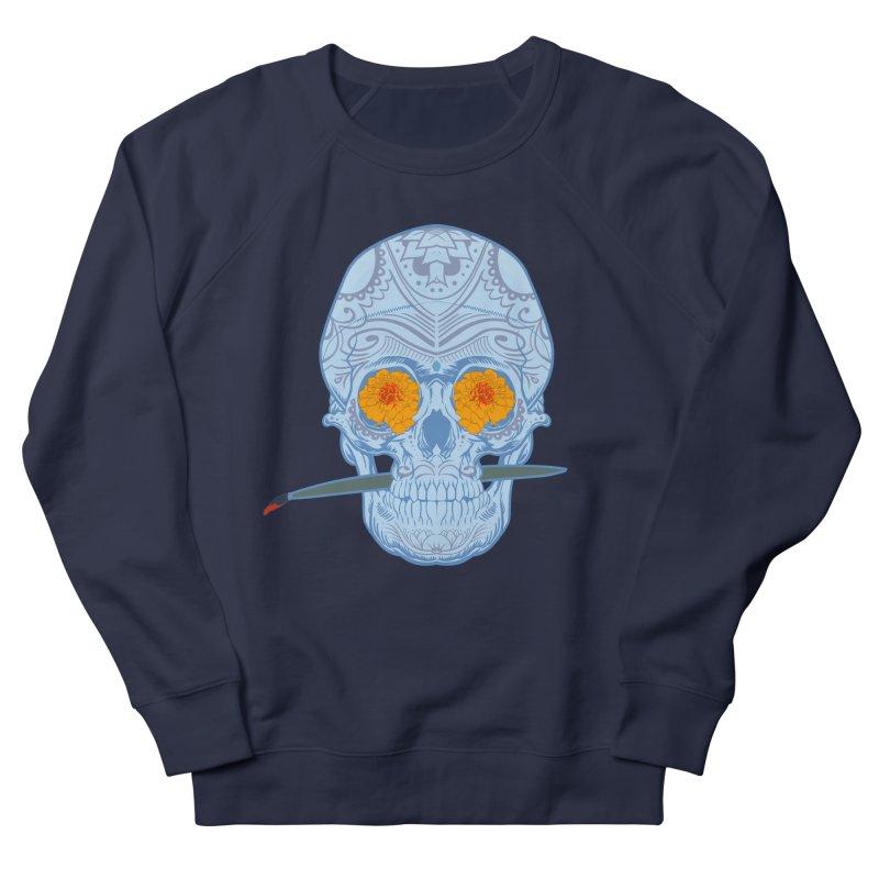 Sugar Skull white Women's Sweatshirt by Dedos tees