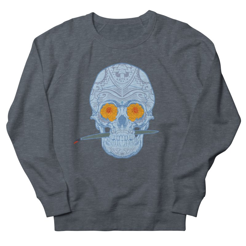 Sugar Skull white Men's Sweatshirt by Dedos tees