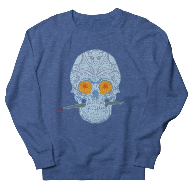 Sugar Skull white Men's Sweatshirt by Dedos tees