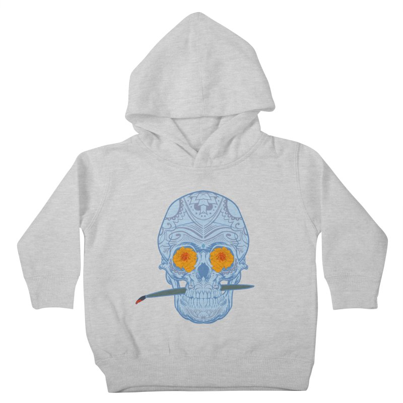 Sugar Skull white Kids Toddler Pullover Hoody by Dedos tees
