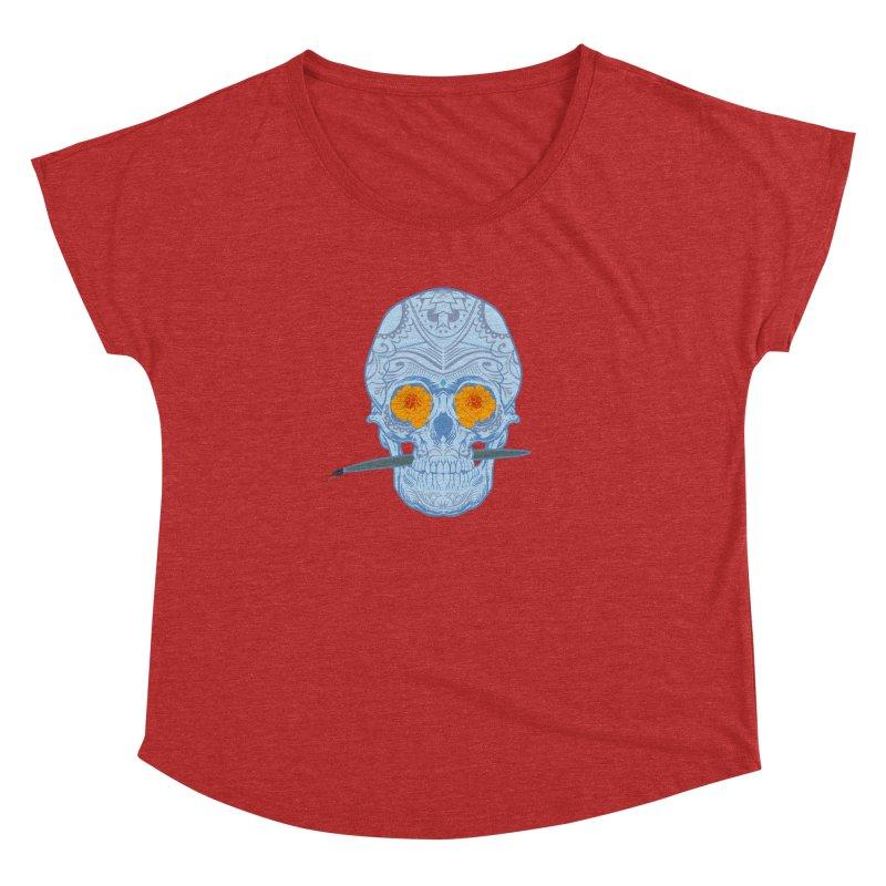 Sugar Skull white Women's Dolman by Dedos tees