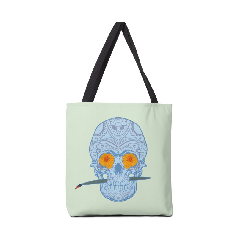 Sugar Skull white Accessories Bag by Dedos tees