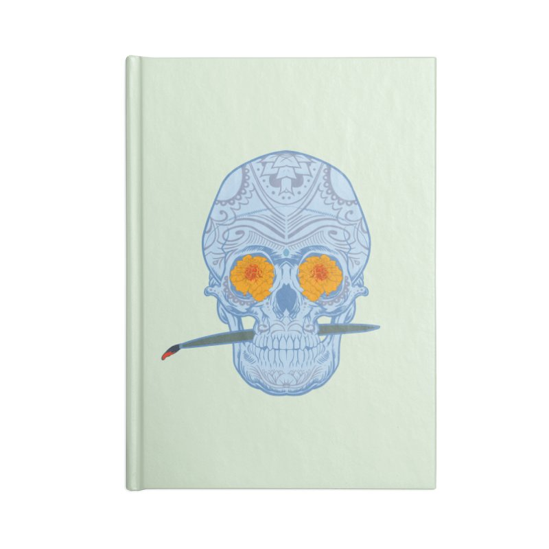 Sugar Skull white Accessories Notebook by Dedos tees