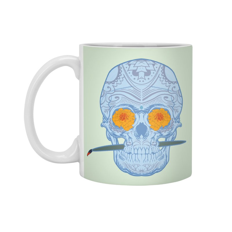 Sugar Skull white Accessories Mug by Dedos tees
