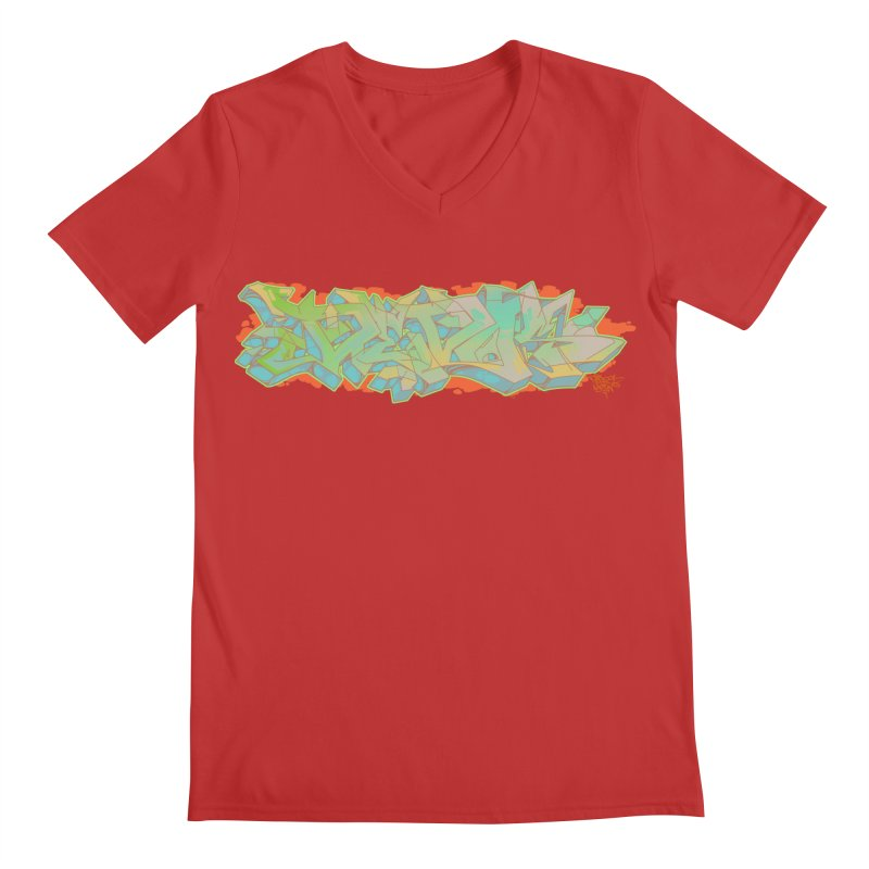 Dedos Graffiti letters 5 Men's V-Neck by Dedos tees