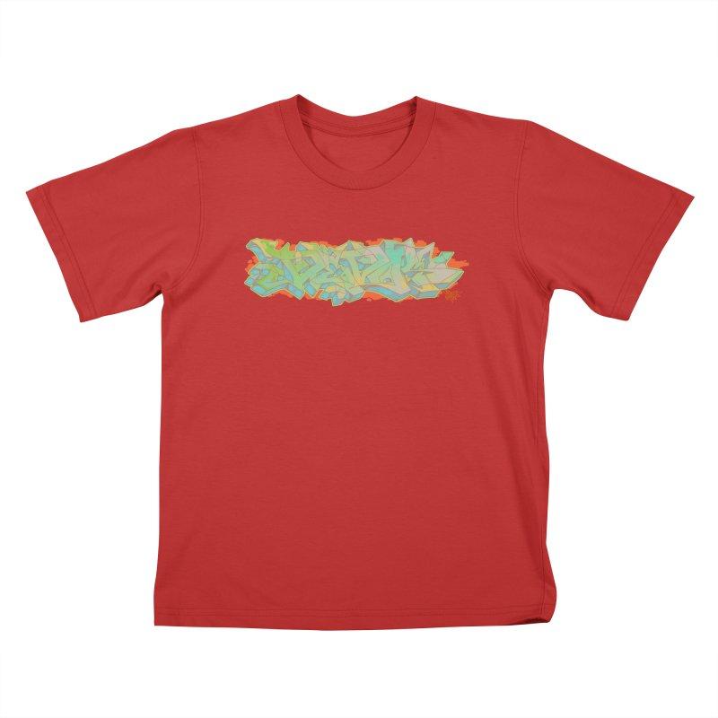 Dedos Graffiti letters 5 Kids T-Shirt by Dedos tees