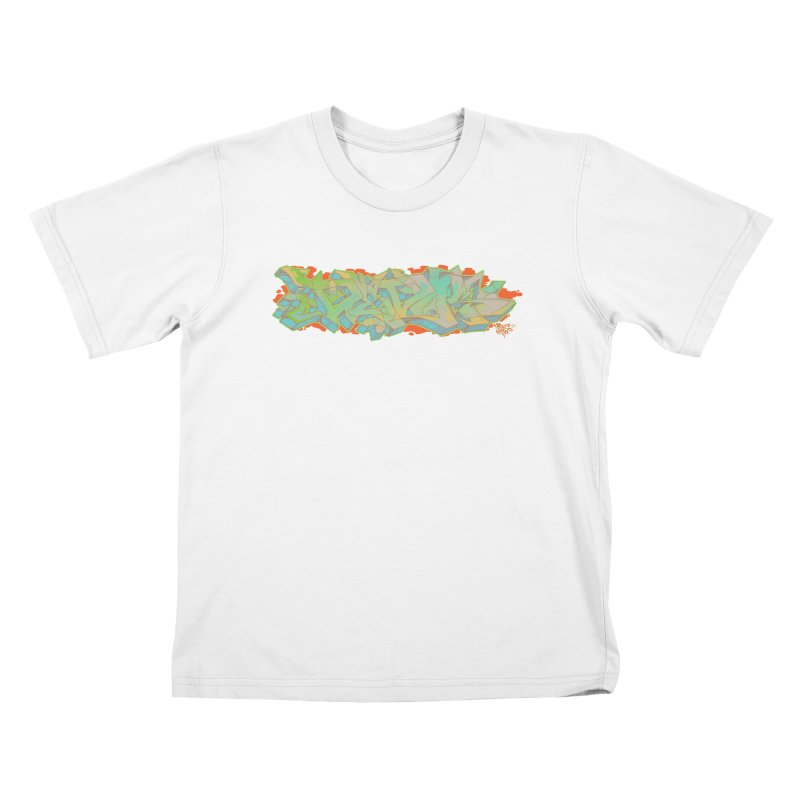 Dedos Graffiti letters 5 Kids T-shirt by Dedos tees