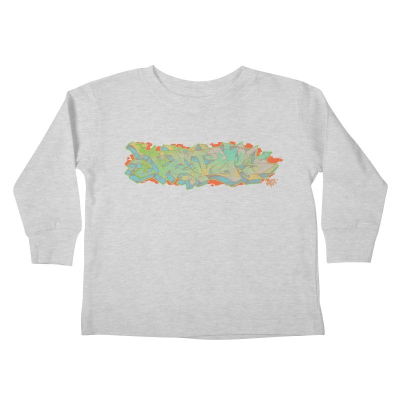 Dedos Graffiti letters 5 Kids Toddler Longsleeve T-Shirt by Dedos tees