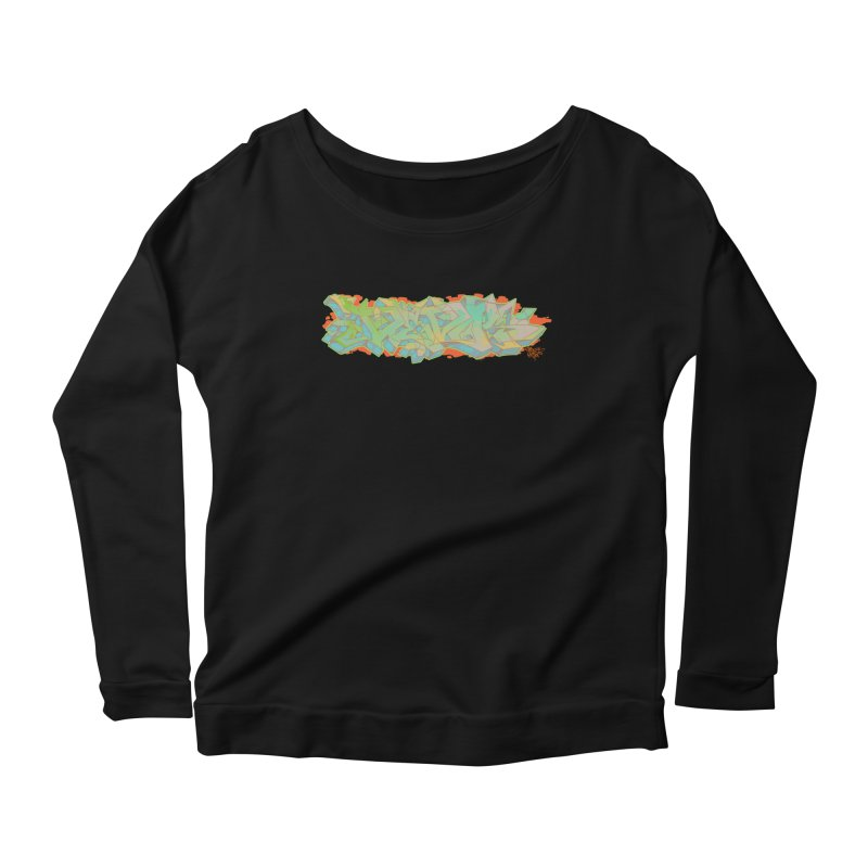 Dedos Graffiti letters 5 Women's Longsleeve Scoopneck  by Dedos tees