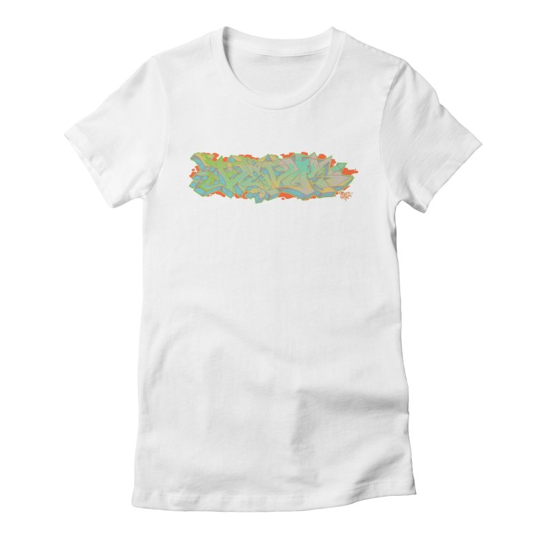 Dedos Graffiti letters 5 Women's Fitted T-Shirt by Dedos tees