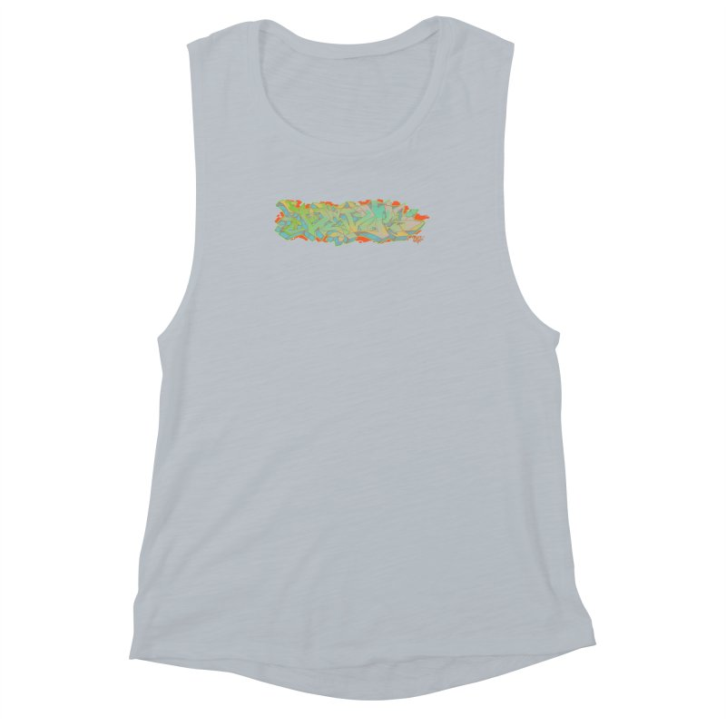 Dedos Graffiti letters 5 Women's Muscle Tank by Dedos tees
