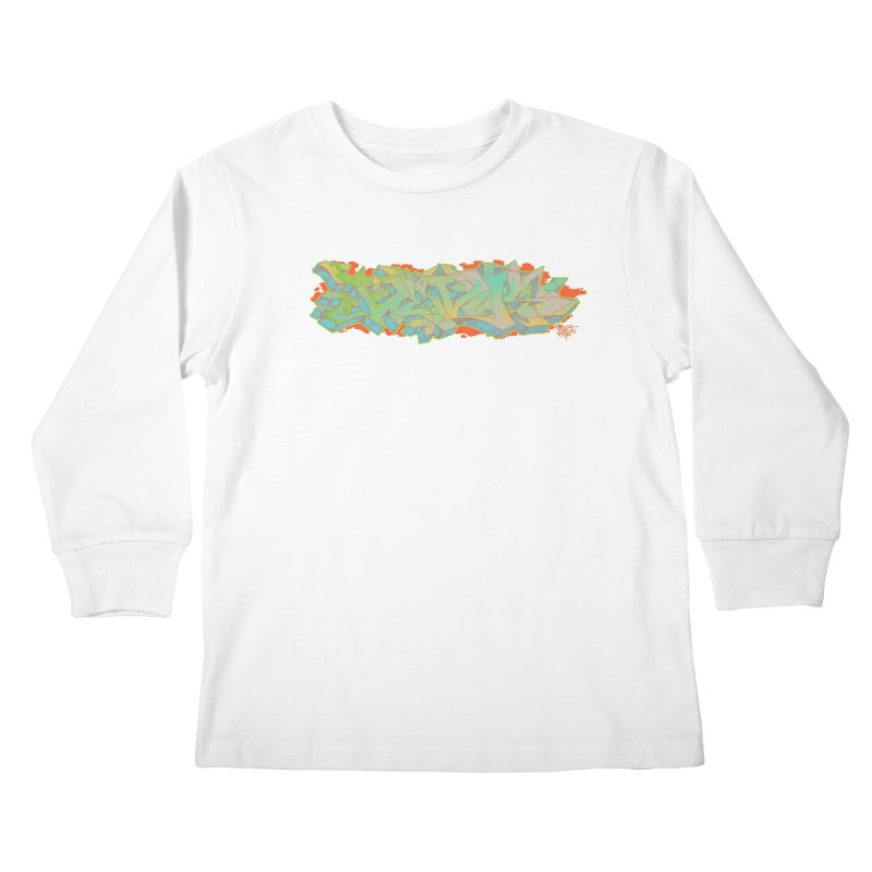 Dedos Graffiti letters 5 Kids Longsleeve T-Shirt by Dedos tees