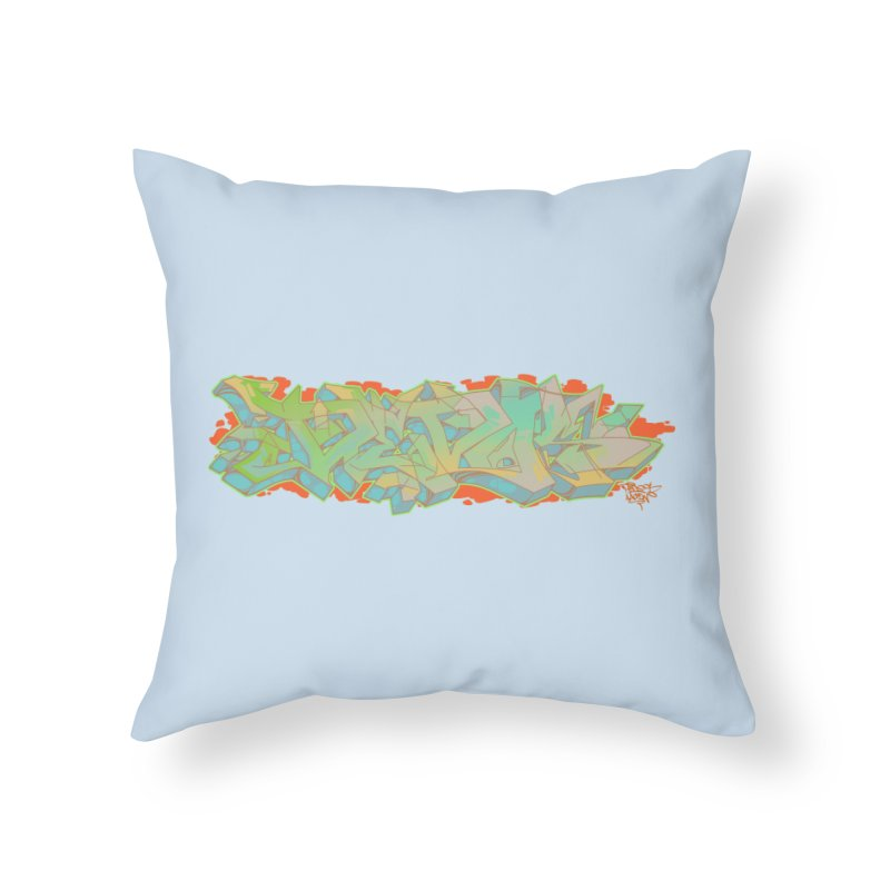 Dedos Graffiti letters 5 Home Throw Pillow by Dedos tees