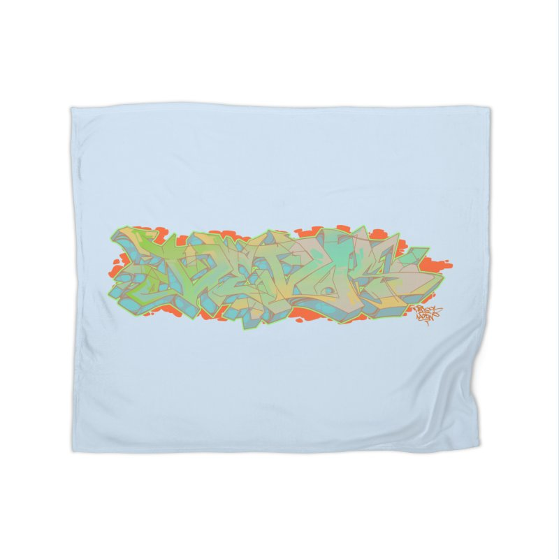 Dedos Graffiti letters 5 Home Fleece Blanket by Dedos tees
