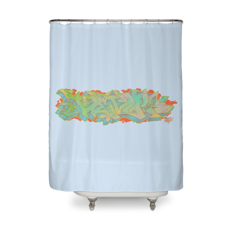 Dedos Graffiti letters 5 Home Shower Curtain by Dedos tees
