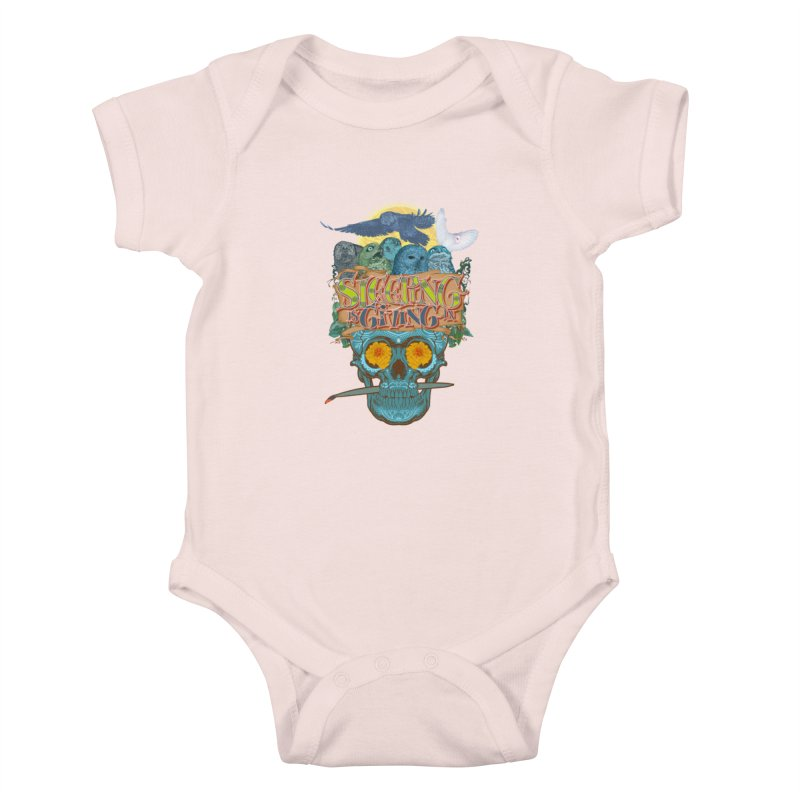 Sleepin' is givin' in 2  Kids Baby Bodysuit by Dedos tees