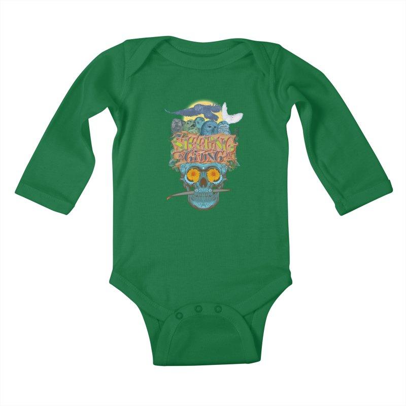 Sleepin' is givin' in 2  Kids Baby Longsleeve Bodysuit by Dedos tees