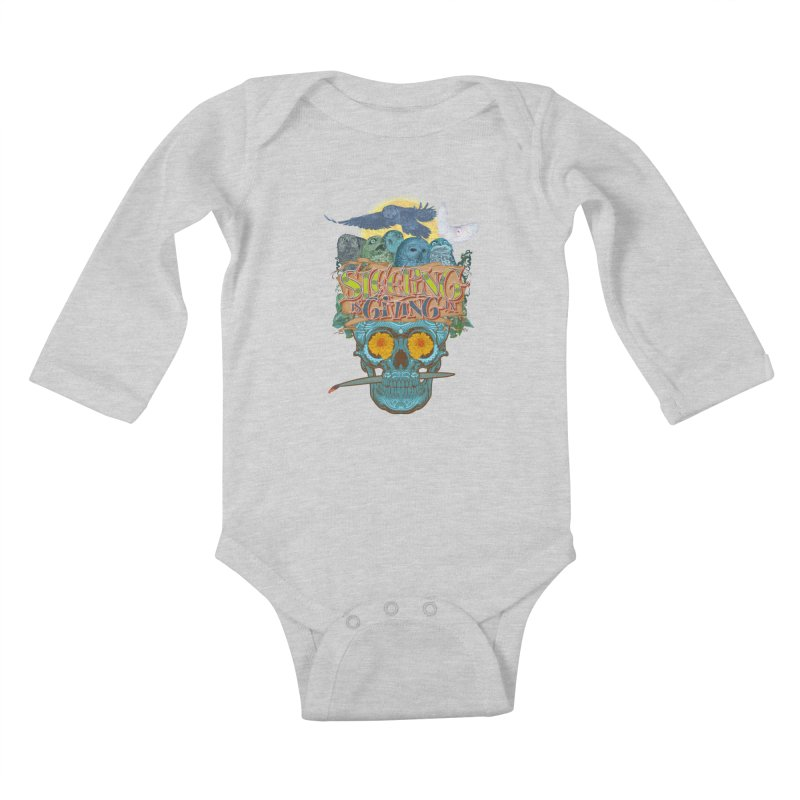 Sleepin' is givin' in 2  Kids Baby Longsleeve Bodysuit by Dedos tees