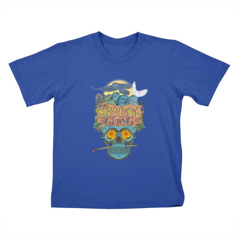 Sleepin' is givin' in 2  Kids T-Shirt by Dedos tees