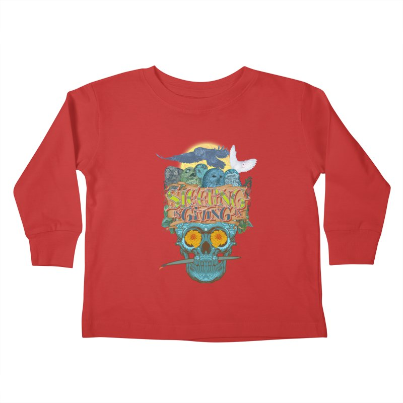 Sleepin' is givin' in 2  Kids Toddler Longsleeve T-Shirt by Dedos tees
