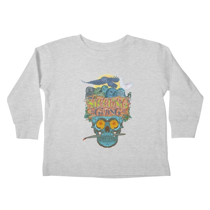 Sleepin' is givin' in 2  Kids Toddler Longsleeve T-Shirt by Dedos tees