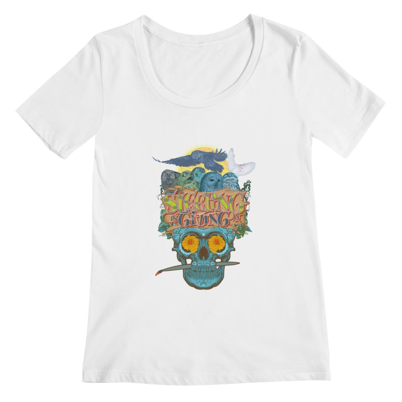 Sleepin' is givin' in 2  Women's Scoopneck by Dedos tees