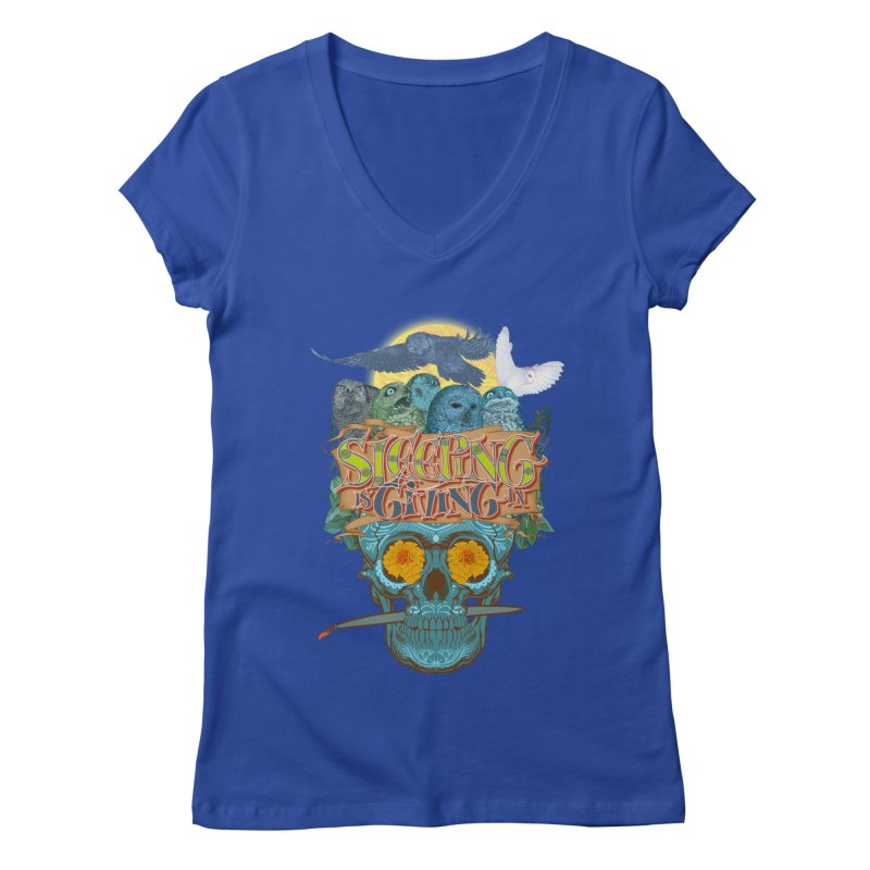 Sleepin' is givin' in 2  Women's V-Neck by Dedos tees