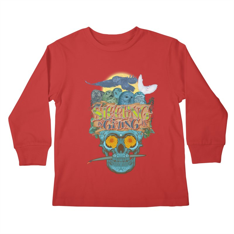 Sleepin' is givin' in 2  Kids Longsleeve T-Shirt by Dedos tees