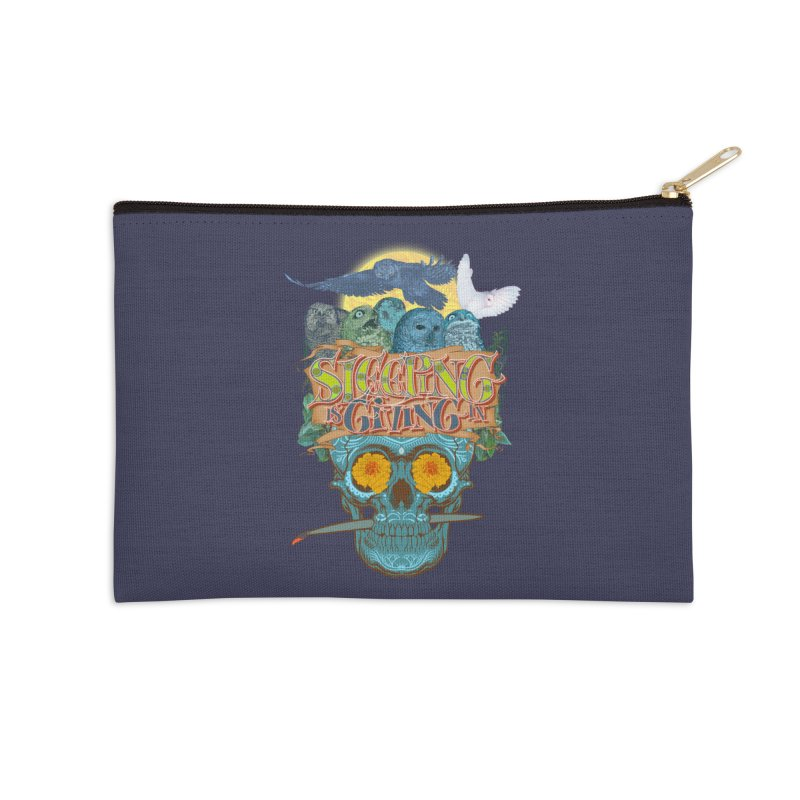 Sleepin' is givin' in 2  Accessories Zip Pouch by Dedos tees