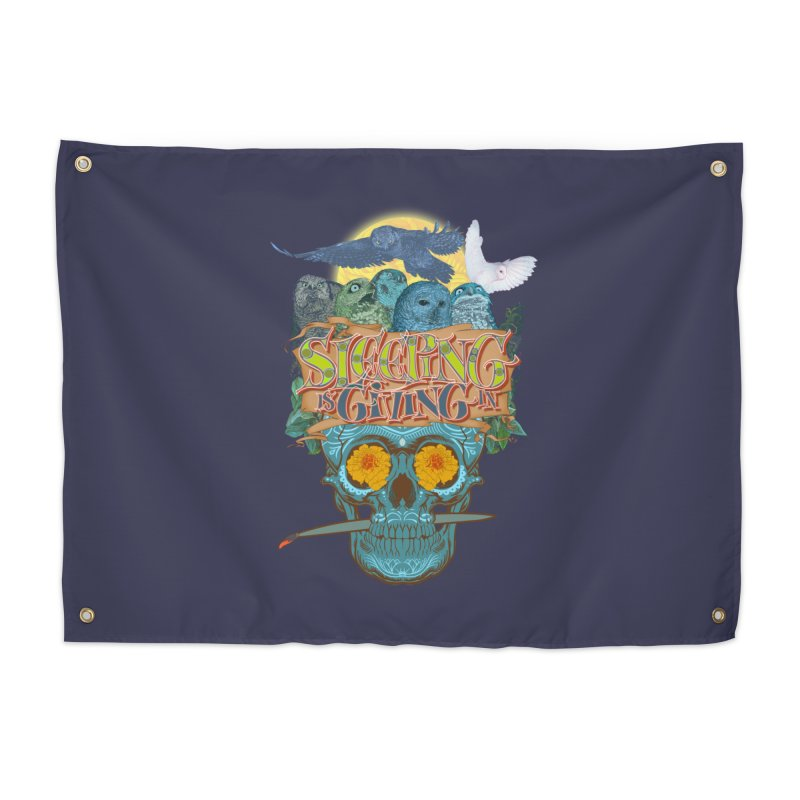 Sleepin' is givin' in 2  Home Tapestry by Dedos tees