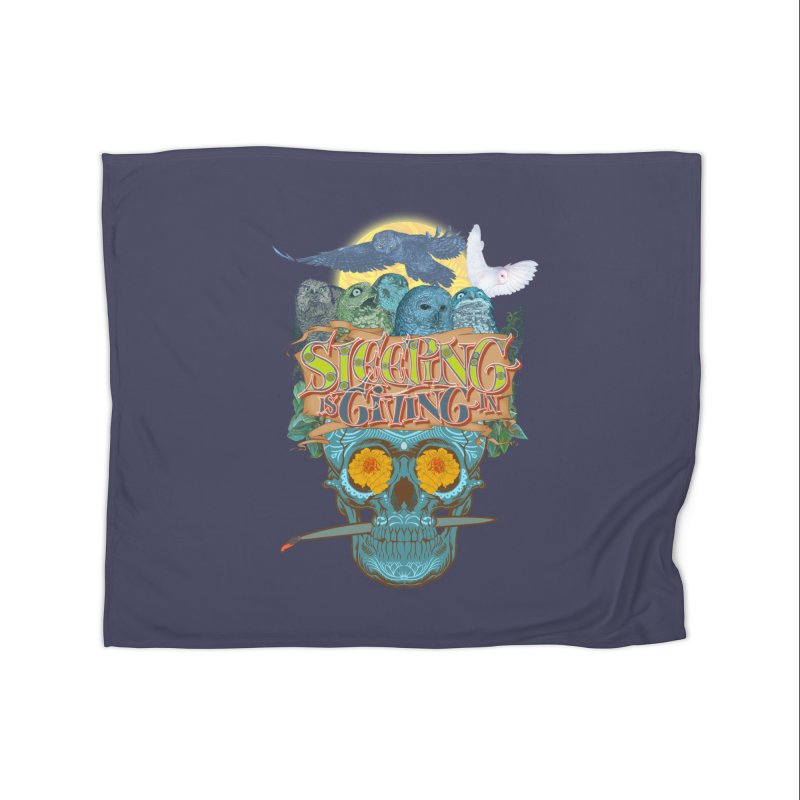 Sleepin' is givin' in 2  Home Fleece Blanket by Dedos tees