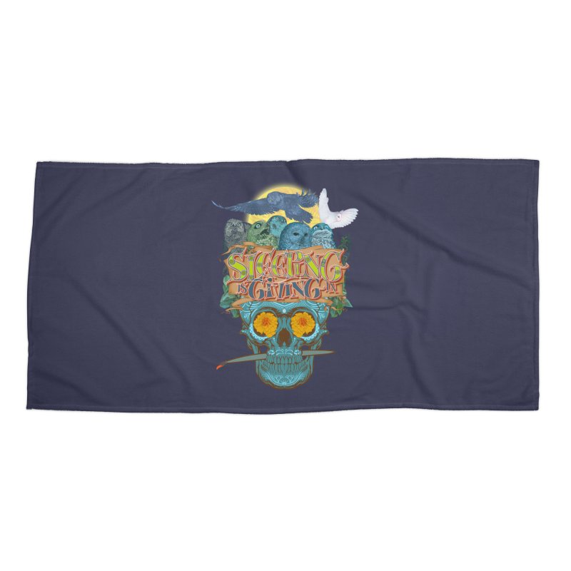 Sleepin' is givin' in 2  Accessories Beach Towel by Dedos tees
