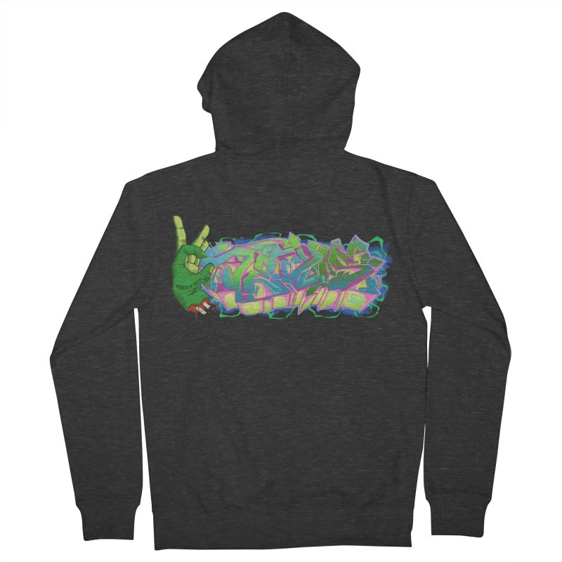 Dedos Graffiti letters 2 Women's Zip-Up Hoody by Dedos tees